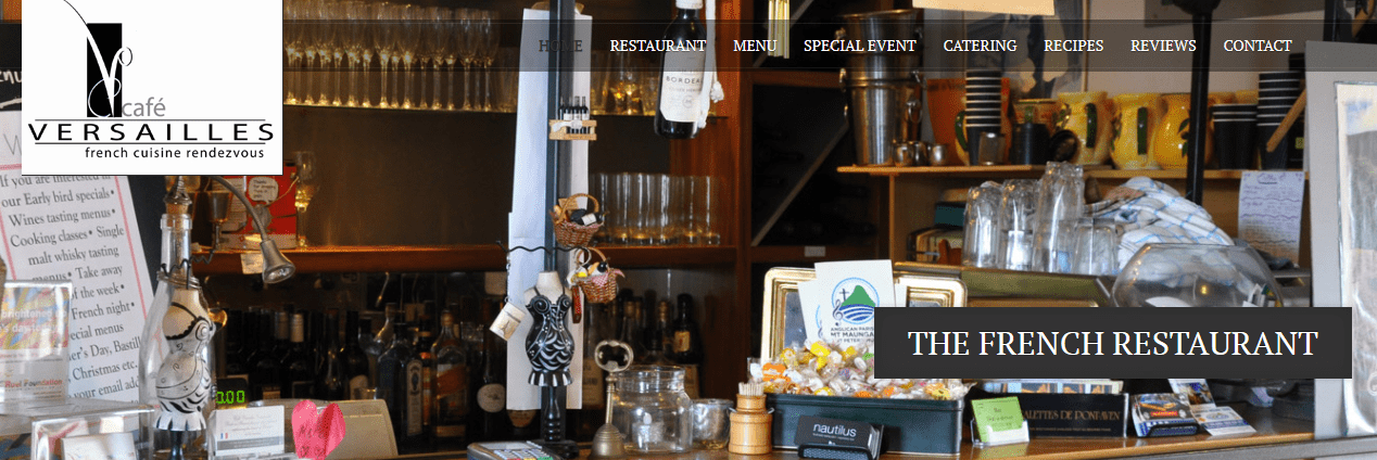 Site Internet Restaurant Café Versailles
