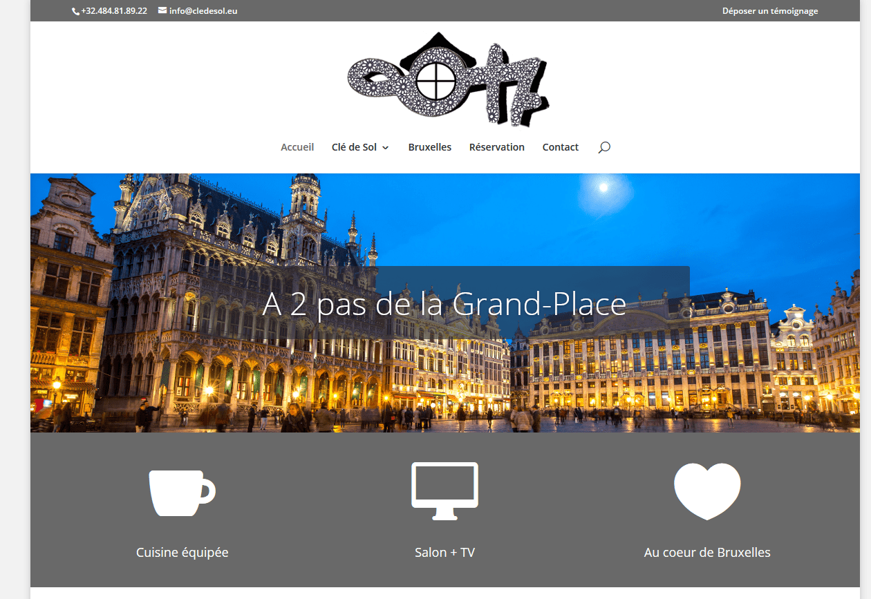 Site Internet Chambre d'hôte Clé de Sol