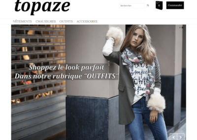 Site e-commerce Topaze