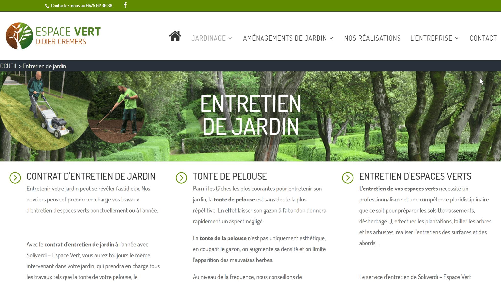 Création site Internet Soliverdi – Espace Vert