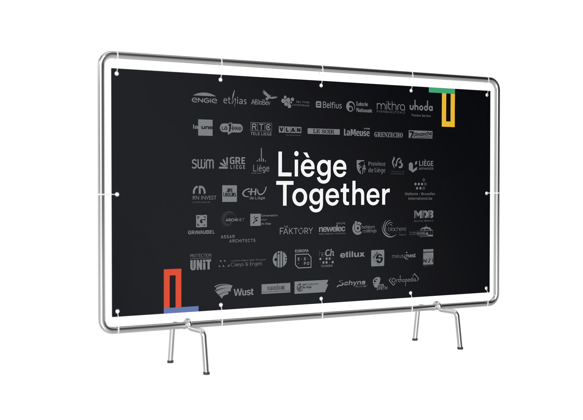 Céation d'un presswall pour Liège Together