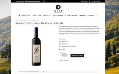 Site e-commerce Nest Vini
